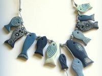 flickr SandrArt Polymer Clay Fish Necklace