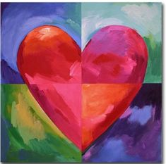 Big Heart Canvas Art, wall art and wall hangings to accent the beauty of your home. Wide selection of Canvas Art Big Heart Canvas Art, wall art and wall hangings at affordable prices. Square 1 Art, 2nd Grade Art, Grade 2, Heart Canvas, Valentines Art, Art Classroom, Art Design, Art Plastique, Art Activities