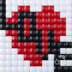 #iloveyou #valentine #romantique #love #hobby #pixelhobby #pixelen #valentijn #liefde Pearler Bead Patterns, Perler Patterns, Peyote Patterns, Loom Patterns, Beading Patterns, Tiny Cross Stitch, Cross Stitch Designs, Cross Stitch Patterns, Perler Bead Emoji