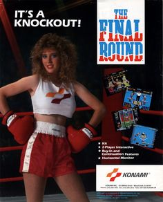 The Arcade Flyer Archive - Video Game Flyers: Final Round, The, Konami 90s Video Games, Vintage Video Games, Vintage Games, Video Game Art, Retro Games, School Videos, Arcade Machine, Inspiration For Kids, Design Inspiration