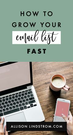 Do you feel like everywhere you turn you are hearing about the importance of email list building? Here's how to grow your email list fast! Email Marketing Design, Email Marketing Strategy, Business Marketing, Content Marketing, Business Tips, Online Business, Email Design, Design Web, Mobile Marketing