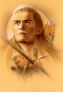 Elven Archer Lord of the Rings Legolas original mixed media painting by John Alvin Love The Lord, Lord Of The Rings, Legolas And Thranduil, O Hobbit, Movie Poster Art, Jrr Tolkien, Mixed Media Painting, Middle Earth, Lotr