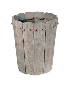 Destinations Driftwood 2 Waste Basket & Reviews - Bathroom Accessories - Bed & Bath - Macy's Nautical Bathrooms, Beach Bathrooms, Rustic Bathrooms, Seaside Bathroom, Bathroom Sets, Bohemian Bathroom, Bathroom Images, Bathroom Fixtures, Diy Bathroom Decor