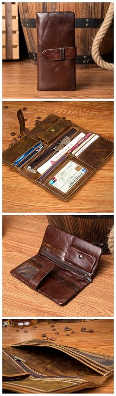LONG LEATHER WALLET, LEATHER HOLDER, MONEY CASE MS129