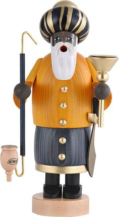 The 3 Wise Men - Melchior - German Incense Smoker by KWO Olbernhau (#21163)