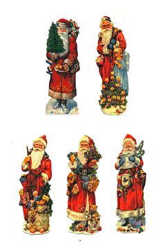 Lebkuchenbilder 11cm Weihnachtsmann Nikolaus 10 Glanzbilder Motive von 1900   eBay