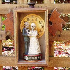 Assemblage art found objects wedding vows shrine by nunnsense