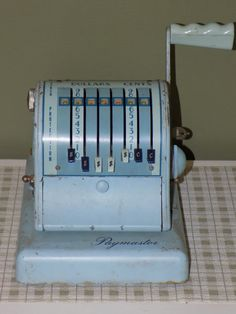 Vintage Paymaster S-600 Series 7 Column Check by TabulousCreations