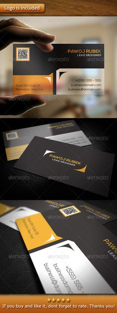 "Corporate Business Card v1 #GraphicRiver - 3.5×2"" print dimension, with Bleed and Guides. - Layered Ai and EPS file. - CMYK, Print ready. - You can change text and colors very easy using the named and organized layers that includes the file. - The typography used is Nexa you can download here: fontfabric /nexa-free-font/ Created: 15November13 GraphicsFilesIncluded: VectorEPS #AIIllustrator Layered: Yes MinimumAdobeCSVersion: CS PrintDimensions: 3.5x2 Tags: 300dpi #ConsultingAgency…"
