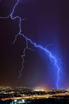 Lightning: Touchdown in Tuscon - photo by Mike Olbinski Photography, via Flickr