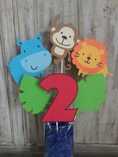 Safari Centerpiece Jungle Centerpiece Zoo by EricasCrafties. Safari birthday zoo birthday jungle birthday decorations $10 baby shower