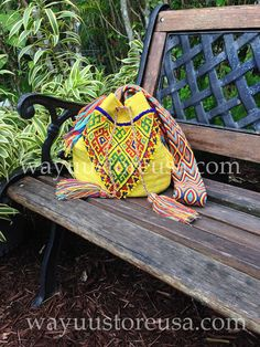Wayuu Bag with Vintage Afghan Kuchi Beaded by loveandlucky on Etsy