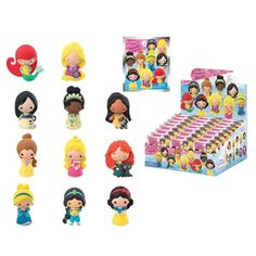 Disney Series 9 3-D Figural Key Chain 6-Pack Monogram Disney Key Chains