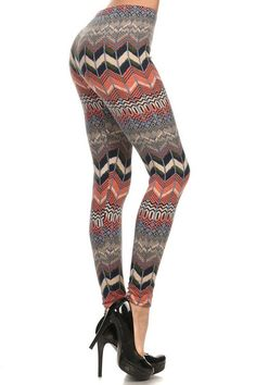 Here is another beautiful warm legging that you are going have to have, they are called our Mellow Chevron Velour Leggings. These gorgeous warm leggings feature a muted chevron fabric design that is absolutely ideal for the fall and winter season.   Not only are they going to make your legs look amazing but they will keep you oh so warm and cozy with their luxurious and soft ultra plush velour-like fabric.