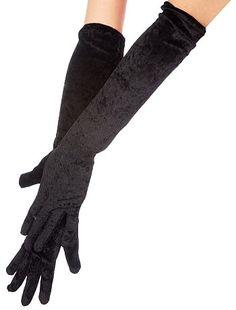 Longs gants unis en velours Accessoires 4,00€ Autres Les longs gants en velours finaliseront votre déguisement favori ! - En velours moiré - Longueur : 53 cm environ