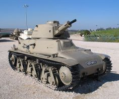The Hotchkiss H35 or Char léger modèle 1935 H was a French light tank developed prior to World War II. Despite having been designed from 1933 as a rather slow but well-armoured light infantry support tank, the type was initially rejected by the French Infantry because it proved difficult to steer while driving cross-country, and was instead adopted in 1936 by the French Cavalry.