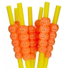 Pumpkin Halloween Straws 8 Pack A perfect accessory for any halloween party! Ensure your guests can drink their evil concoctions in style with thes freaky pumpkin straws. Not suitable for children under 36 months. Halloween 20, Halloween Goodies, Halloween Items, Halloween Fancy Dress, Halloween Party Decor, Halloween Pumpkins, Thing 1, For Your Party, Holidays And Events