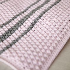 Bobbles and Stripes Crochet Baby Blanket Pattern