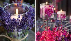 Velas con flores