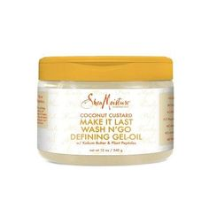 Give your wash n' go style plenty of wow factor with this SheaMoisture Coconut Custard Make It Last Wash N' Go Defining Gel-Oil. Coconut Custard, Coconut Oil, Kokum Butter, Defining Gel, Wash N Go, Essential Fatty Acids, L'oréal Paris, Key Ingredient, Tutorial