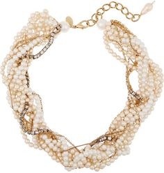 Erickson Beamon Lady and the Tramp Gold-Plated Necklace. A glamorous and feminine statement necklace