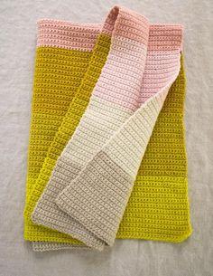 purl soho easy crochet blanket