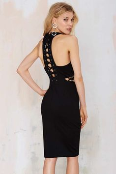 Nasty Gal Rock Steady Lace-Up Dress - LBD   Going Out   Dresses