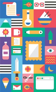 Art | icons on Behance in Grid