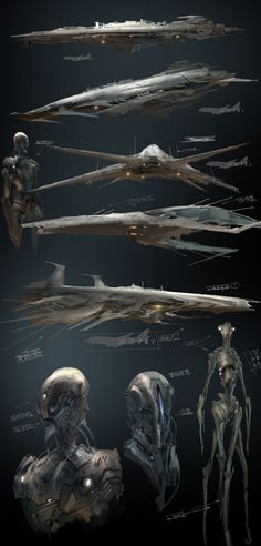 Sectian alien, war ships & soldiers concept