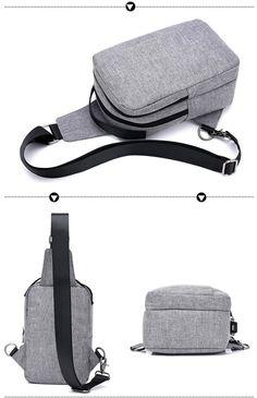 54942b2c92f3 1424.82 руб.  USB зарядка Дизайн Для мужчин сумка груди холст плечевой  ремень сумка Crossbody Messenge сумки для Для женщин большой Ёмкость Sling  Bag купить ...