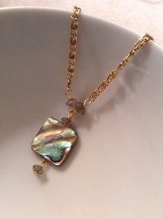 Abalone Necklace on Etsy, $27.00