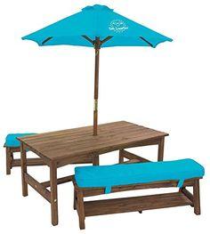 Kidkraft Kona Table W/ Benches & Umbrella, 2015 Amazon Top Rated Freestanding Climbers #Toy