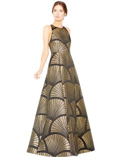 JANESSA RACER BACK GOWN by Alice + Olivia