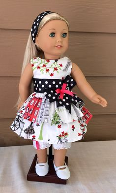 Hey, I found this really awesome Etsy listing at https://www.etsy.com/listing/233414937/free-shipping-american-girl-sundress-for