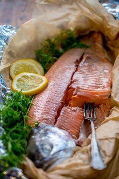 Fish Recipes, Seafood Recipes, Paleo Recipes, Cooking Recipes, A Food, Good Food, Food And Drink, Fish Food, Linguine