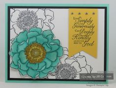 Blended Bloom colored with Blendabilities alcohol markers. #stampinup