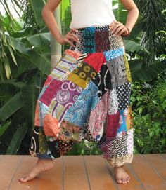 New Hippie Yoga Hippy Genie Aladdin Harem Pants Patchwork Trouser Jumpsuit PW 27 Fashion Now, Diy Fashion, Fashion Outfits, Sewing Clothes, Diy Clothes, Genie Pants, Genie Aladdin, Harems, Rainforests