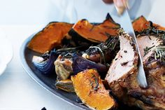 This delicious roast pumpkin makes a superb accompaniment to your festive feast. Healthy Side Dishes, Side Dish Recipes, Red Onion Recipes, Roast Pumpkin, Xmas Food, Vegetable Sides, Roasted Vegetables, Tray Bakes, Festive