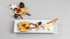Solothurner Liebesbriefe mit Baumnussparfait Waffles, Appetizers, Cheese, Desserts, Breakfast, Food, Love Letters, Dessert Ideas, Food Food