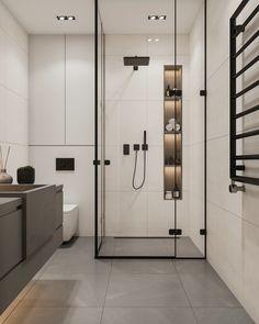 Washroom Design, Bathroom Design Luxury, Bathroom Layout, Modern Bathroom Design, Interior Design Kitchen, Small Bathroom, Wc Design, Toilet Design, Behindertengerechtes Bad