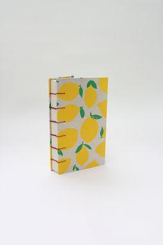 Bright Lemon Pattern Hardcover Journal/Sketchbook Fine Paper, One Pic, Art Supplies, Notebooks, Stationary, Lemon, Journal, Bright, Map