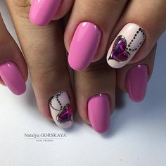 Heart nail designs Hearts on nails Lilac gel nail Lilac nails Original nails Purple nails Romantic nails Spring nails 2017 Heart Nail Designs, Simple Nail Art Designs, Best Nail Art Designs, Love Nails, Fun Nails, Gorgeous Nails, Lilac Nails, Pink Nail, Romantic Nails