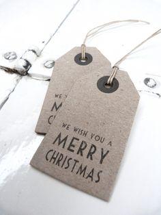 Label Merry Christmas kraft set/5