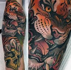 Image result for tiger tattoo traditional