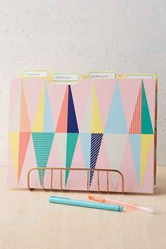 Geo Pastel File Folders Set - Urban Outfitters