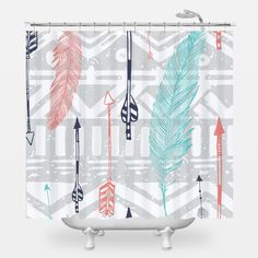 """With endless design options, the WNL Shower Curtain pulls double duty. It's practical, yet stylish and brings a bit of """"je ne sais quoi"""" to your bathroom. We wouldn't be surprised if it became your ne"""