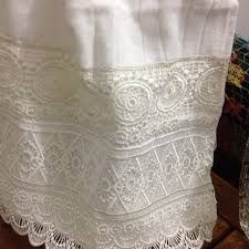 Resultado de imagem para toalhas lavabo com renda guipir