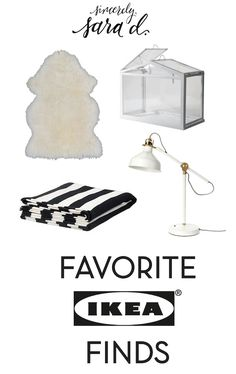 Favorite Ikea Finds - and they're all inexpensive and work with most decor styles!