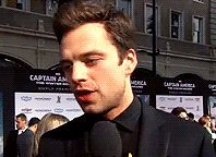 look at his bitchface | Sebastian Stan