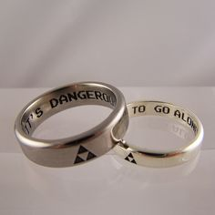 zelda inspired wedding rings